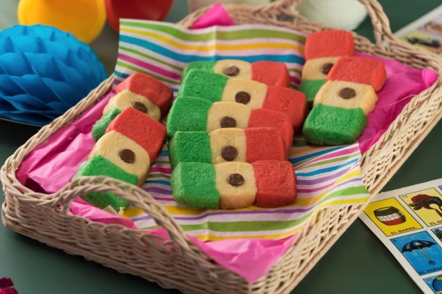 Mexican Flag Cookies