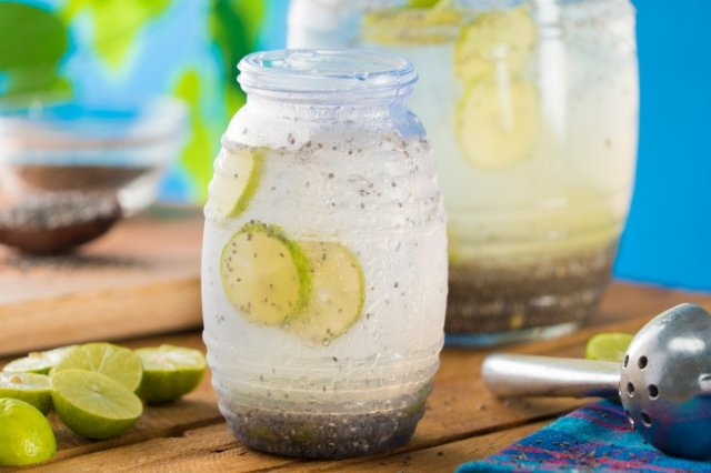 Lime and Chia Refreshing Drink