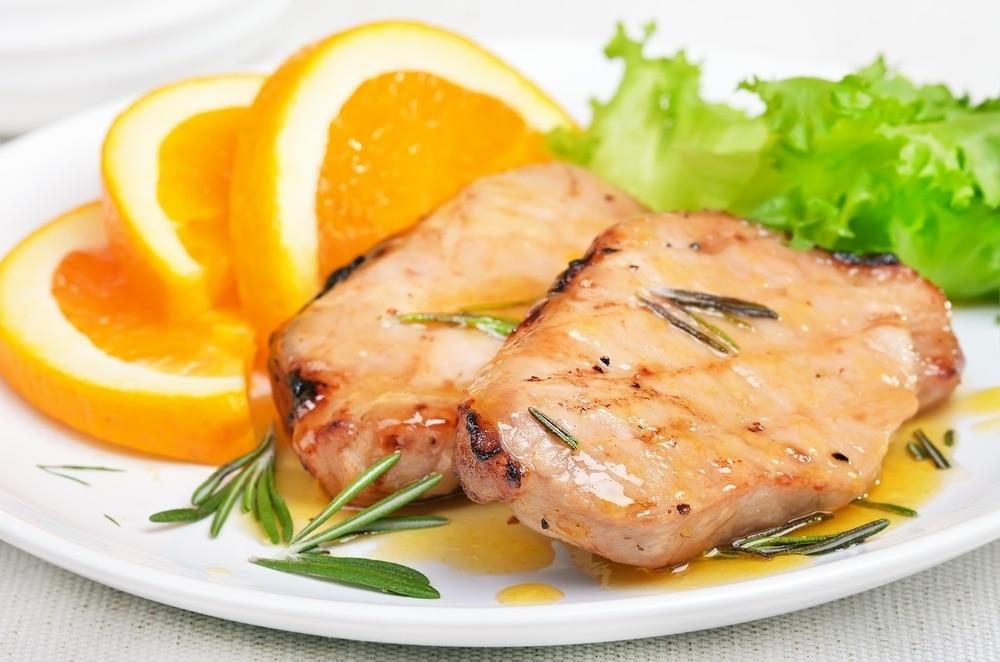 Lomo De Cerdo En Salsa De Naranja