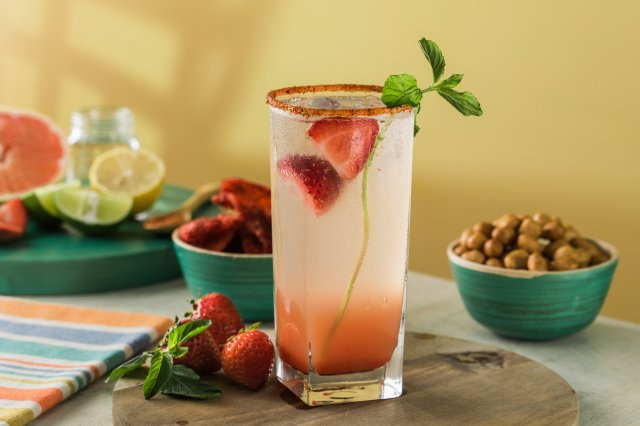 Strawberry Grapefruit Cocktail