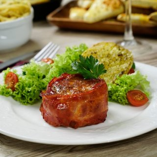 Mini Meatloaf with Bacon