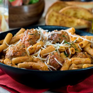 Pasta with Chipotle Meatballs