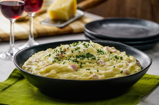 Mashed Potatoes with Ham