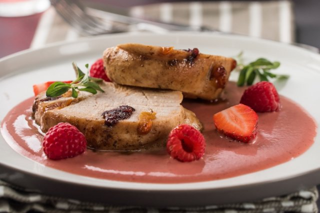 Turkey Breast with Mixed Berry Sauce