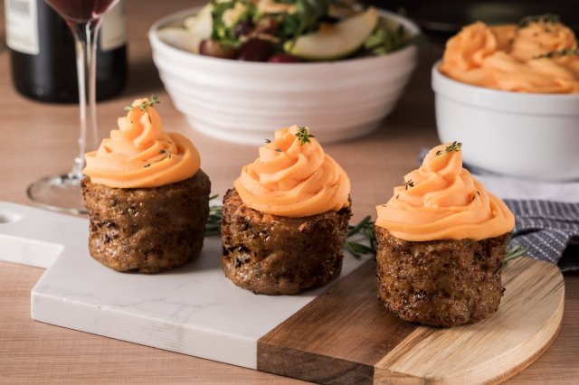 Mini Meatloaf with Sweet Potato