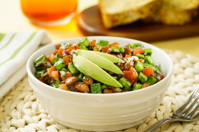 Cactus Salad and Black Beans Salad