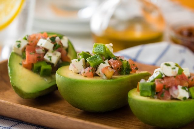 Avocado Stuffed Nopales Salad
