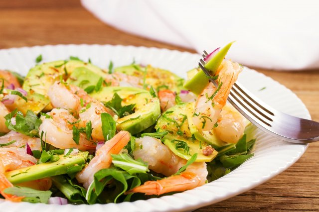 Green Salad with Shrimp