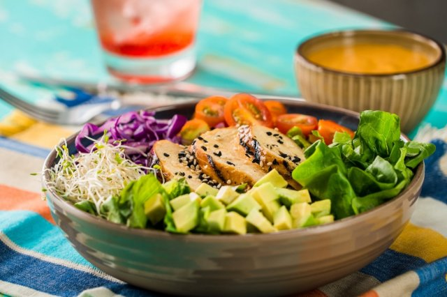 Grilled Chicken Salad with pineapple and chipotle vinaigrette
