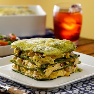 Chicken and Poblano Chile Lasagna