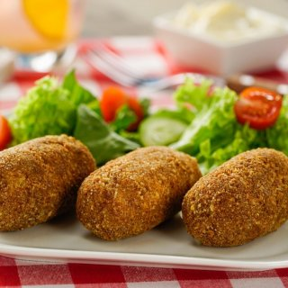 Potato Croquettes with Cheese and Bacon