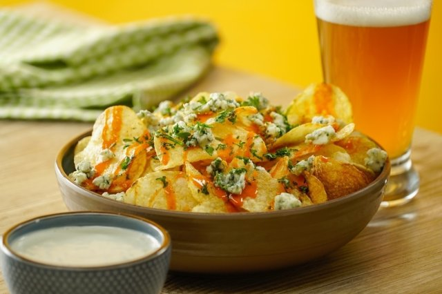 Buffalo Fries with Blue Cheese Dressing