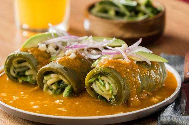 Low Carb Nopal Enchiladas