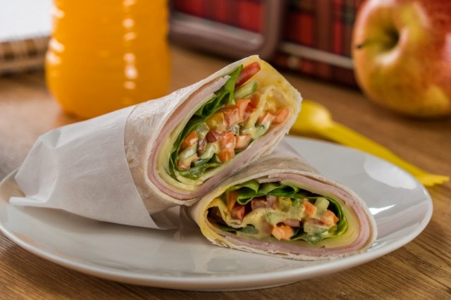 Creamy Turkey Breast and Cheese Wrap