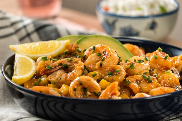 Shrimp in Mango  and Chipotle Sauce