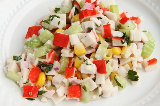 Surimi Salad with Thousand Islands Dressing