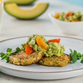Veggie Cakes with Guacamole