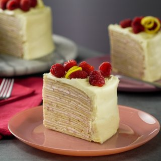 Crepes Cake with Raspberry