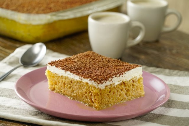 Tres Leches Cake with Coffee Liqueur