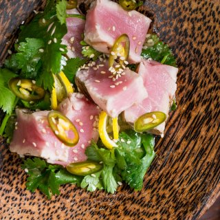 Tuna Steak with Ginger and Soy Vinaigrette