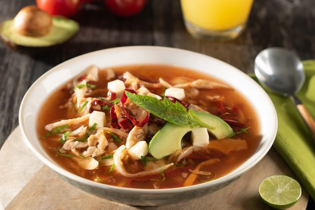 Mushroom Broth with Guajillo