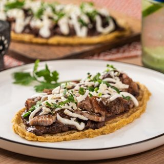 Huarache de Mole with Rib