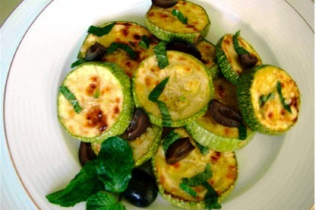 Roasted Zucchini with Mint