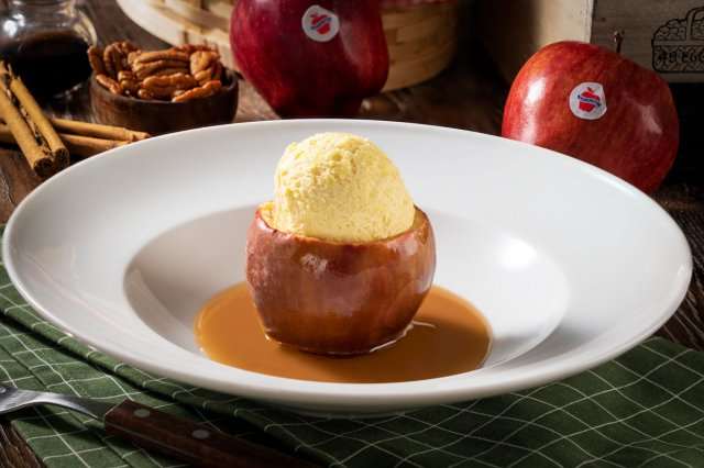 Apples Stuffed with Crispy Walnut