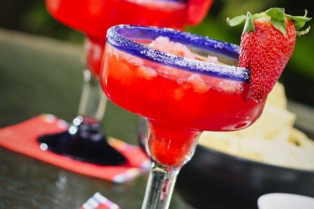 Strawberry Margarita (without alcohol)