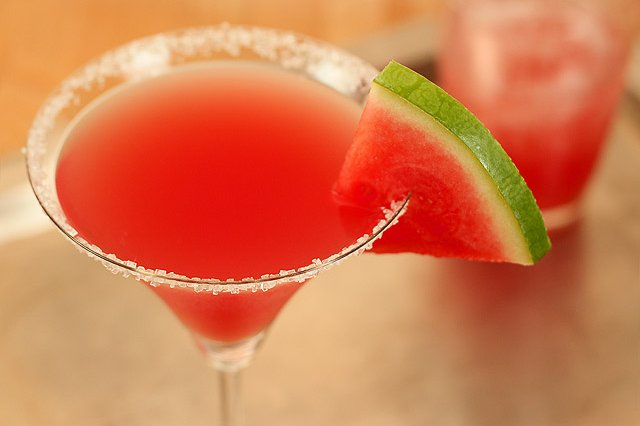Watermelon and Melon Martini
