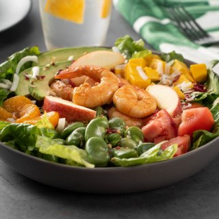 Mandarin Salad with Shrimp with Sesame