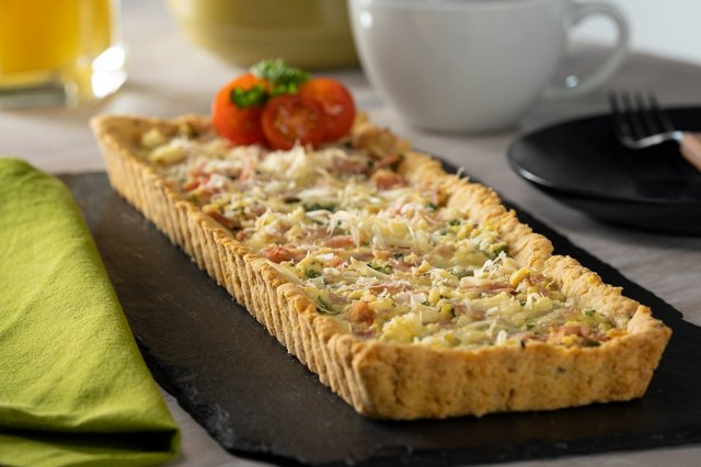 Spinach Tart with Cottage Cheese
