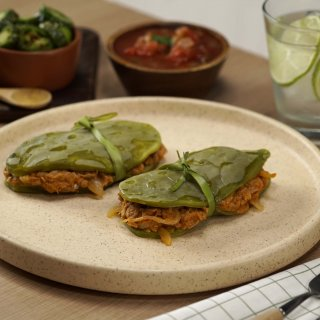 Nopal Stuffed with Tinga de Tuna