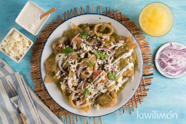 Chilaquiles with Seafood
