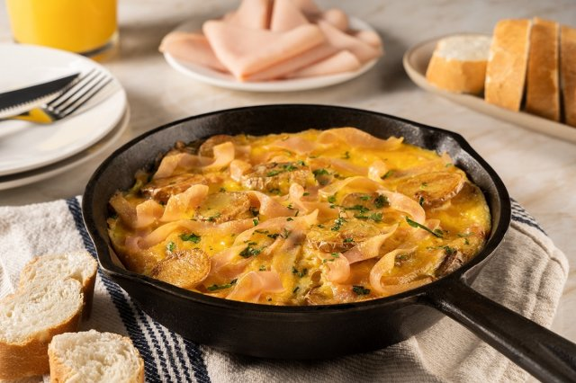 Spanish Omelette with Turkey Breast