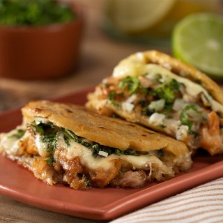 Gorditas with Carnitas Gratin
