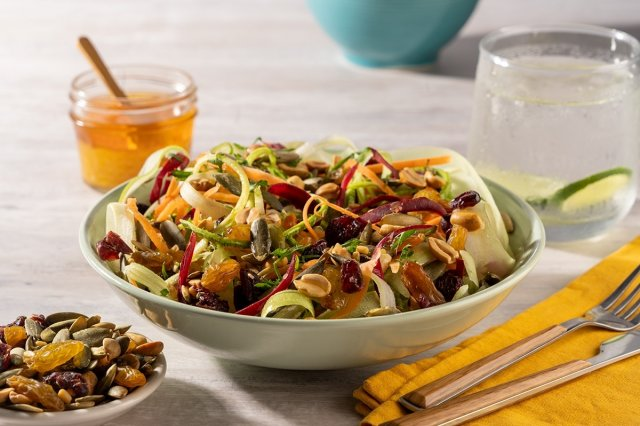 Vegetable and Nut Noodle Salad