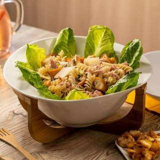 Caesar Salad with Pasta and Tuna