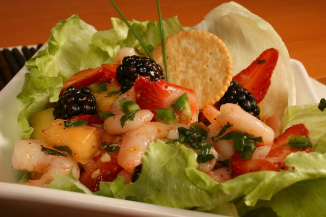 Fruit and Shrimp Ceviche