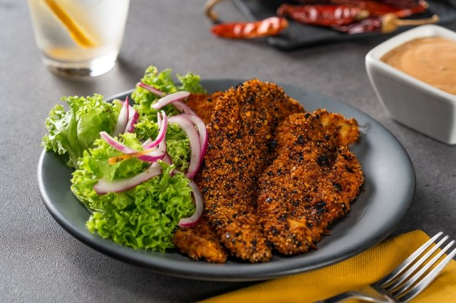 Breaded Chiles and Amaranth