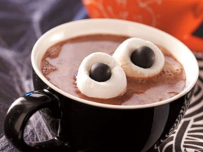 Hot Chocolate with Eyes