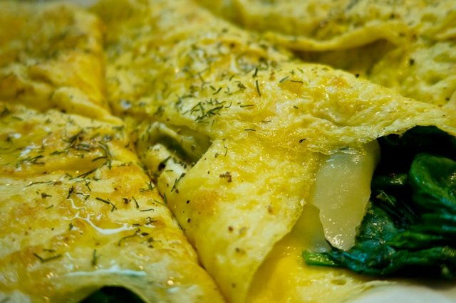Omelette of Cheese and Spinach