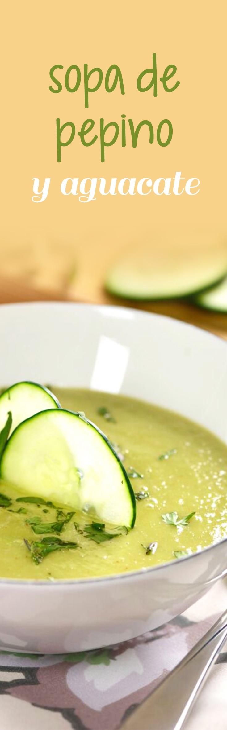 Receta de Sopa de Pepino y Aguacate