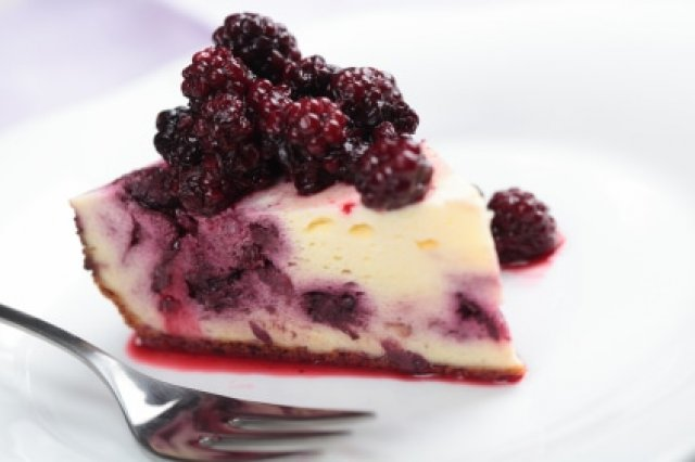 Pay de Queso con Blueberry