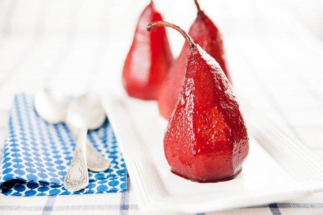 Pears to Red Wine