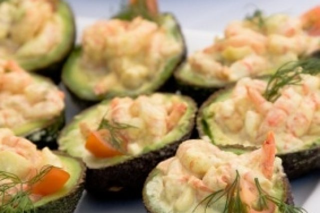 Shrimp Filled Avocados