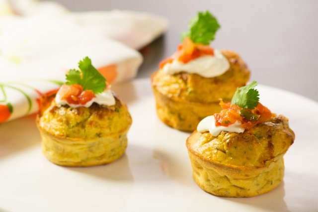 Chicken, Vegetable and Cheese Cupcakes