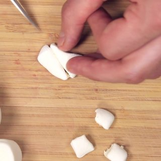 Cut the teethHow to make Caramel Apples for Halloween