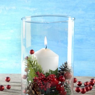 Christmas centerpieceHow to make a Centerpiece with Candle