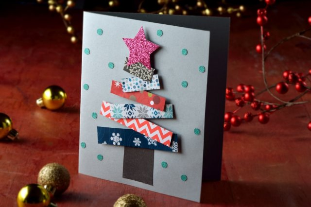 Recipe of How to make a Colorful Christmas Card
